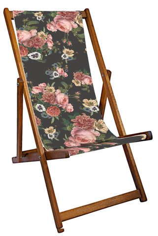 Vintage Posy Midnight Deckchair