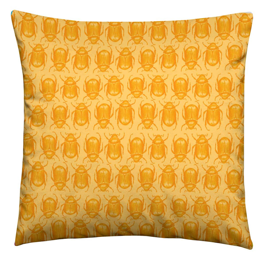 Yellow Beetle Cushion