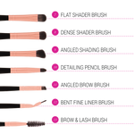 BH Cosmetics Signature Rose Gold 13 piece Brush Set with Brush Holder
