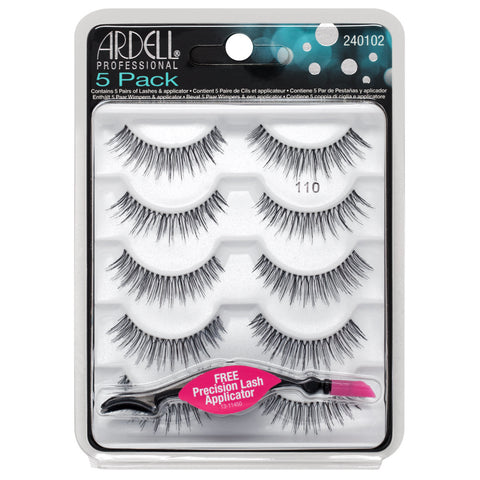 Ardell 5 Pack Natural 110 Black False Eyelashes