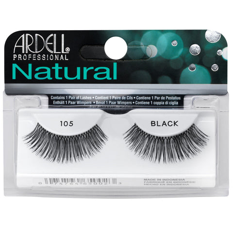 Ardell Natural Lashes 105 Black False Eyelashes