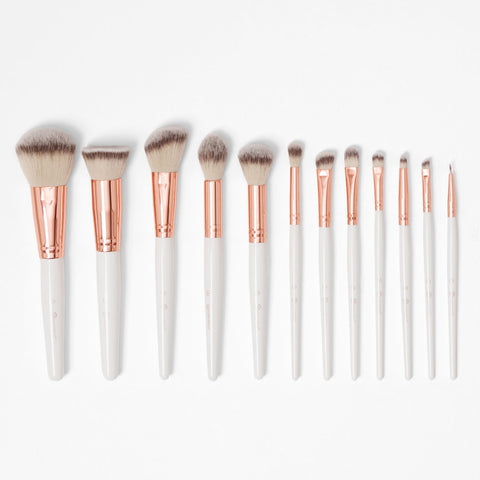 BH Cosmetics Rosé Romance 12 Piece Brush Set with Cosmetic Bag