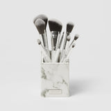 BH Cosmetics White Marble 9 Piece  Brush Set with Angled Brush Holder