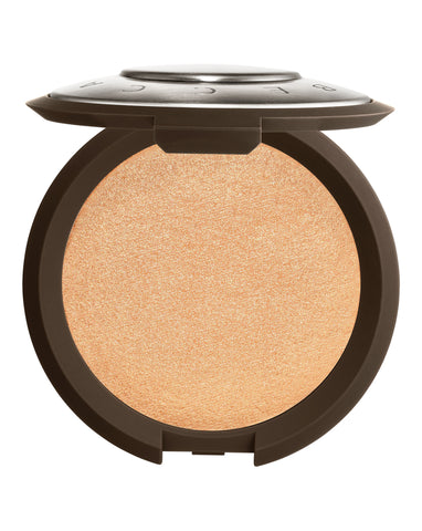 Becca Shimmering Skin Perfector Pressed in Champagne Pop 1.15g Travel Size (soft white gold w/ pinky peach undertones)