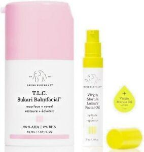 Drunk Elephant T.L.C Sukari Babyfacial Facial and Virgin Marula Oil Duo