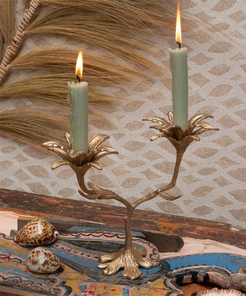 Palash Palm Multi Candle Holder