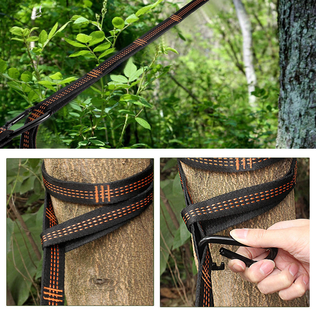 how to hang the hammock tree strap