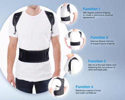 Unigear Back Brace Posture Corrector with Fully Adjustable Straps