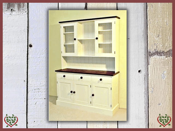 PAINTED SHAKER GLAZED DRESSER | Paul Martyn Furniture UK