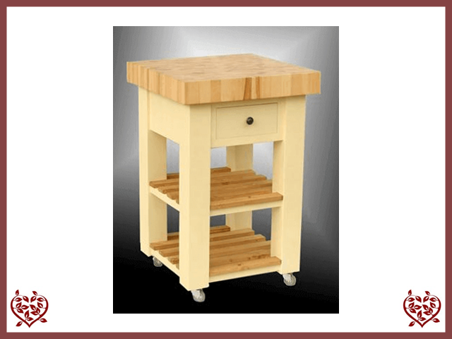 PINE BUTCHERS BLOCK WITH BEECH TOP