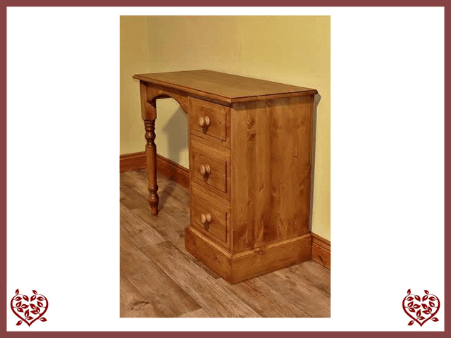 EDWARDIAN SINGLE PEDESTAL DESK