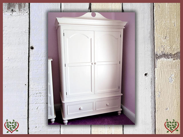 VICTORIAN COLLECTION PAINTED PINE DOUBLE WARDROBE | Paul Martyn Furniture UK