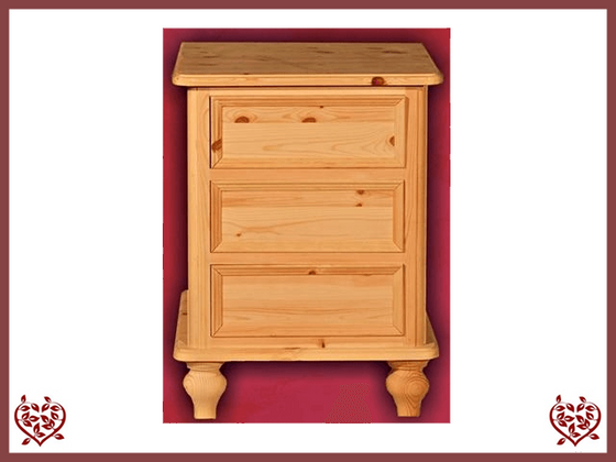 VICTORIAN BEDSIDE PINE CHEST | Paul Martyn Furniture UK
