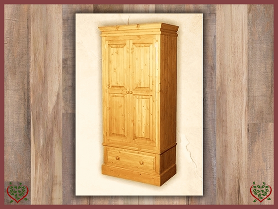 EDWARDIAN 2 DOOR PINE WARDROBE | Paul Martyn Furniture UK