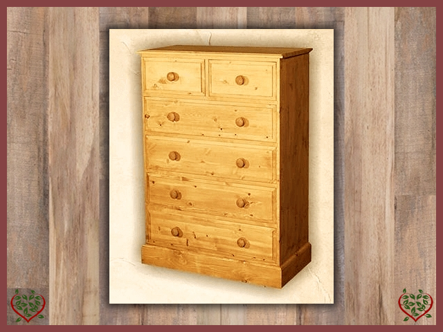 EDWARDIAN 2 OVER 4 CHEST | Paul Martyn Furniture UK