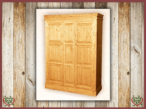 EDWARDIAN TRIPLE PINE WARDROBE | Paul Martyn Furniture UK