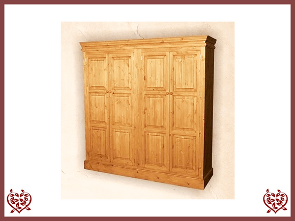 EDWARDIAN QUAD PINE WARDROBE - paul-martyn-furniture