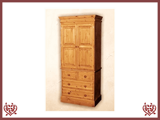 EDWARDIAN LINEN PRESS /WARDROBE - paul-martyn-furniture