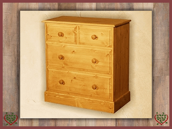 EDWARDIAN 2 OVER TWO CHEST