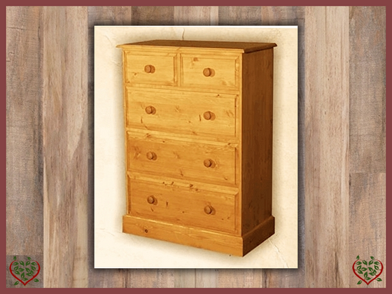 EDWARDIAN 2 OVER THREE CHEST