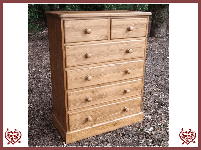 COUNTY 2 OVER 4 CHEST OF DRAWERS