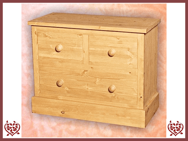SHAKER PINE 2 OVER 1 CHEST | Paul Martyn Furniture UK