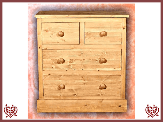 SHAKER PINE 2 OVER 2 CHEST | Paul Martyn Furniture UK