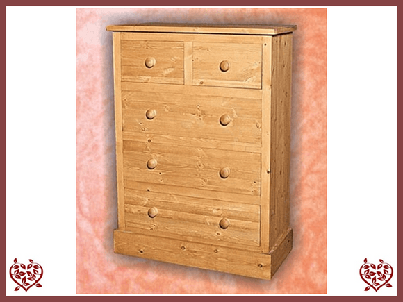 SHAKER PINE 2 OVER 3 CHEST - paul-martyn-furniture