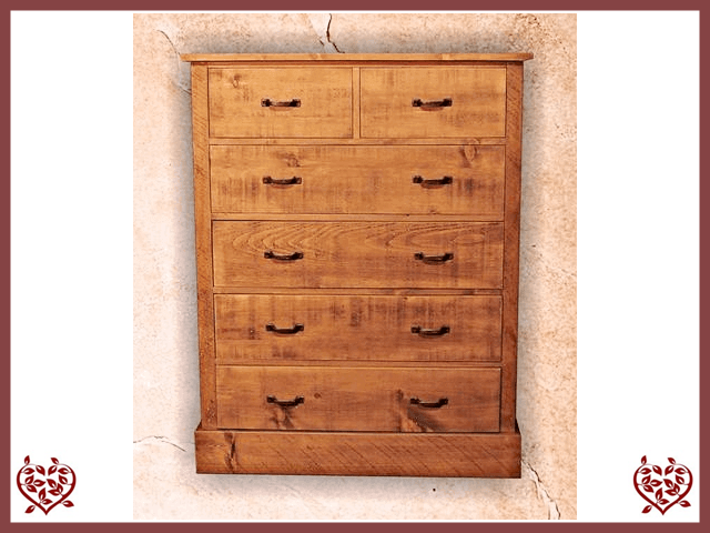 RUSTIQUE 2 OVER 4 CHEST OF DRAWERS - paul-martyn-furniture