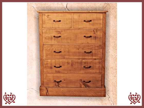 RUSTIQUE 2 OVER 4 CHEST OF DRAWERS