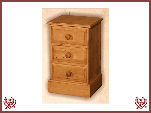 EDWARDIAN 3 DRAWER BEDSIDE CHEST - paul-martyn-furniture