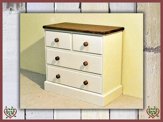 PAINTED COUNTY 2 OVER 2 CHEST OF DRAWERS | Paul Martyn Furniture UK