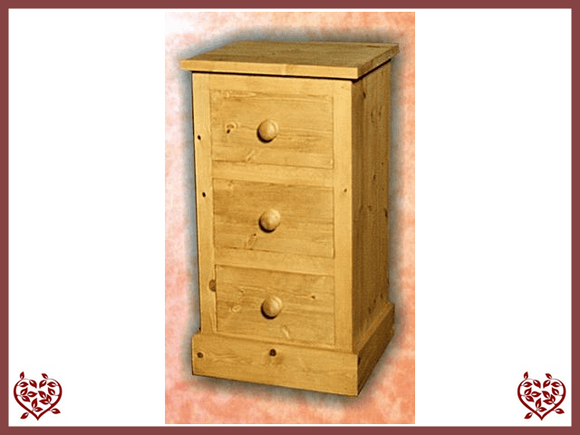 SHAKER 3 DRAWER BEDSIDE CHEST - paul-martyn-furniture