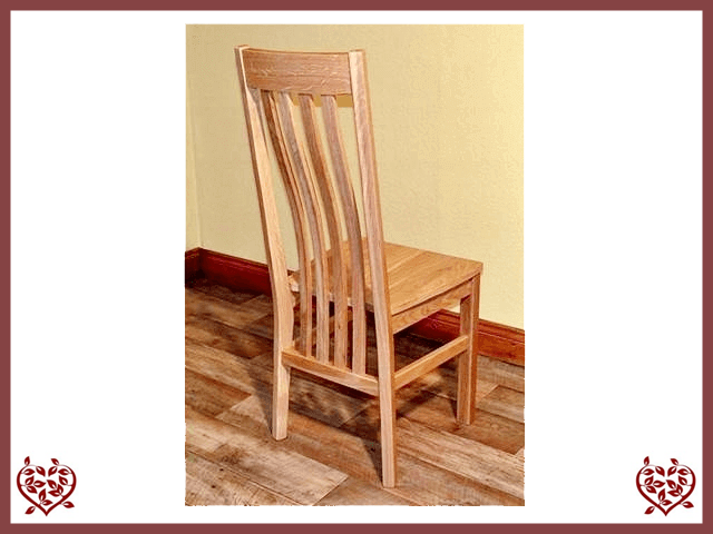 HARRINGTON OAK DINING CHAIR (SOLID SEAT)