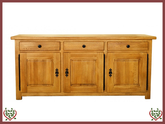COUNTRY OAK SIDEBOARD 3 DOOR/3DRAWERS