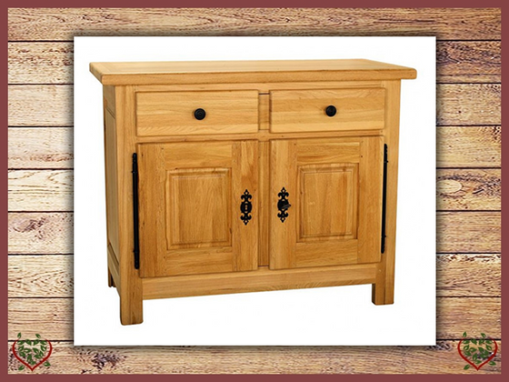 COUNTRY OAK 2 DOOR/1 DRAWER SIDEBOARD | Paul Martyn Furniture UK