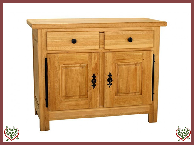 COUNTRY OAK 2 DOOR/1 DRAWER SIDEBOARD