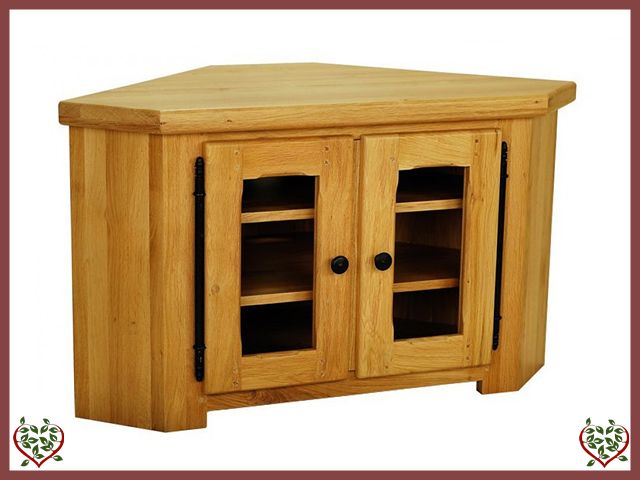 COUNTRY OAK CORNER TV CABINET