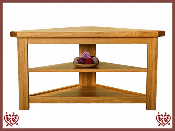 COUNTRY OAK OPEN CORNER TV UNIT - paul-martyn-furniture