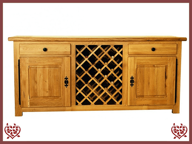 COUNTRY OAK SIDEBOARD/WINE RACK