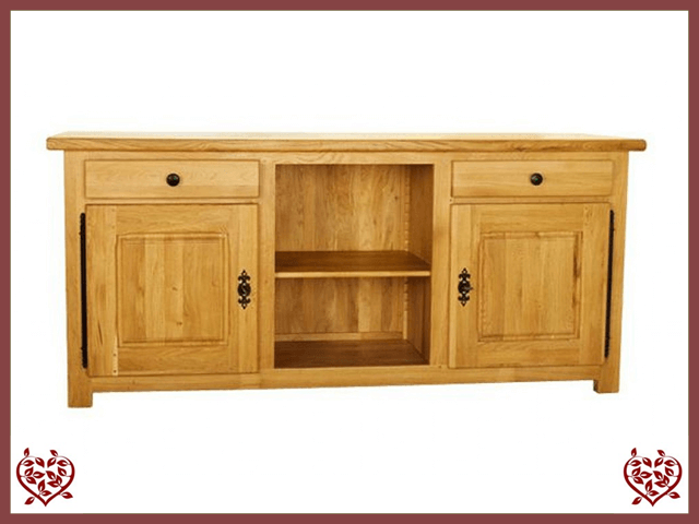 COUNTRY OAK SIDEBOARD CENTRE SHELVES