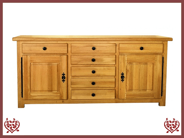 COUNTRY OAK SIDEBOARD 2 DOORS /7 DRAWERS - paul-martyn-furniture