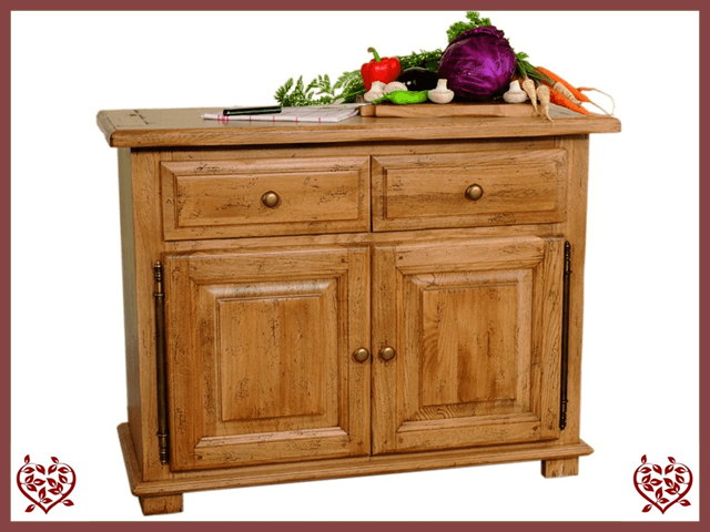 HERITAGE OAK SIDEBOARD – 2 DOORS/2 DRAWERS