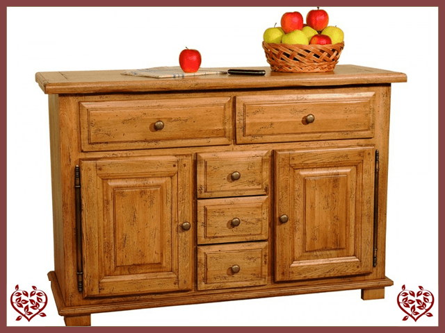 HERITAGE OAK SIDEBOARD – 2 DOORS/5 DRAWERS