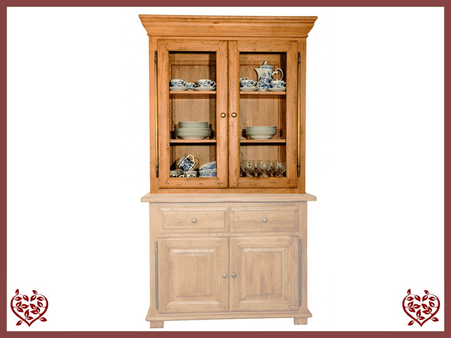 HERITAGE OAK CABINET TOP ONLY – 2 DOORS