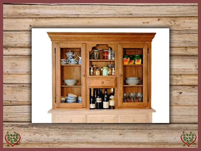 HERITAGE OAK CABINET TOP ONLY – 2 DOORS/1 DRAWER | Paul Martyn Furniture UK