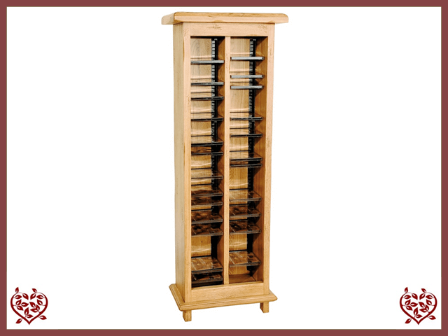 HERITAGE OAK CD RACK | Paul Martyn Furniture UK