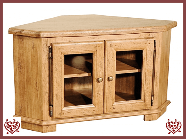 HERITAGE OAK CORNER TV UNIT – 2 DOORS