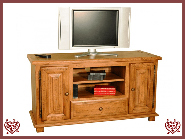 HERITAGE OAK WIDESCREEN TV UNIT – 2 DOORS/1 DRAWER