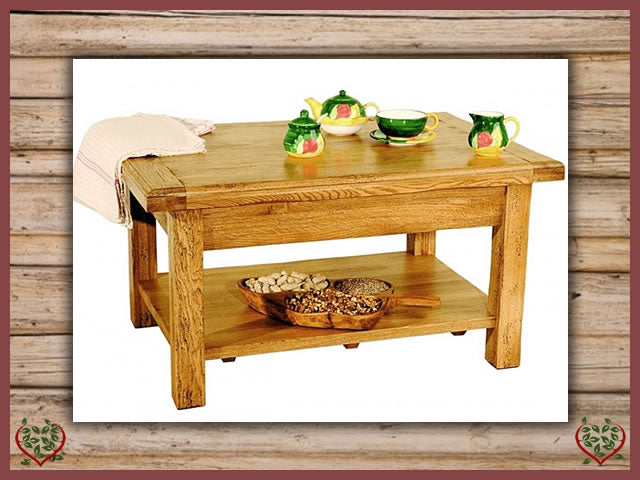 HERITAGE OAK COFFEE TABLE | Paul Martyn Furniture UK